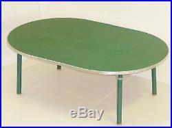 TRES GRANDE & SOLIDE TABLE BASSE D'ECOLE FORMICA 1950 VINTAGE 50's ROCKABILLY