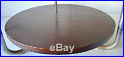Table Basse Bois + Verre Et Metal Design Bauhaus Années 50 Vintage Loft 1950