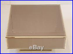 Table Basse Carree Edition Roche Bobois En Miroir Ambre 1970 Vintage 70s 70's