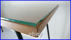 Table Basse Design 1950 Pierre Guariche Années 50 60 Metal, Bois, Verre