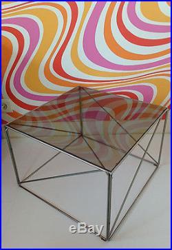 Table Basse carrée Vintage des Années 70's de Max SAUZE