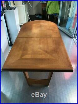 Table De Salle A Manger + Rallonge Guillerme Et Chambron 1950 Chene Votre Maison