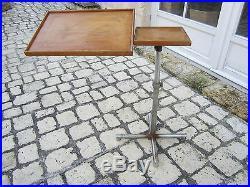 Table Design Pupitre Design Moderniste Caruelle 1950 A Double Plateau Dans Jus