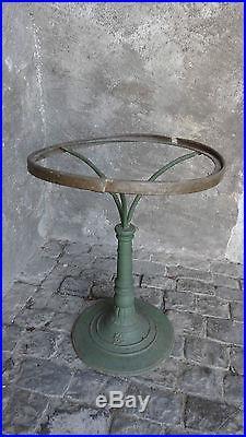 Table Guéridon de bistrot Art nouveau plateau marbre