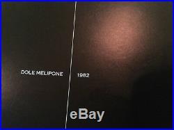 Table Philippe Starck, appelée Dole Melipone 1982, pieds noirs et plateau verre