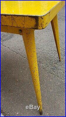 Table TOLIX / T55 / Années 50 / Piétement Compas
