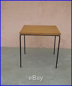 Table basse 1950s bois métal vintage 50 guariche mid century