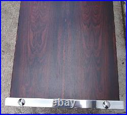 Table basse 1960 1970 palissandre chrome