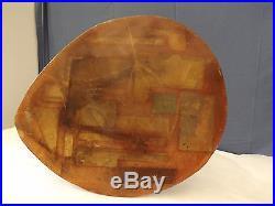 Table basse André Bloc villa Bellevue Meudon C1951 Fer, résine vitrail abstrait