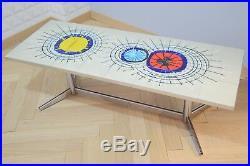 Table basse Juliette Belarti vintage années 70 design pop art faïence