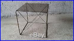 Table basse Max Sauze vintage années 70 design bout de canapé