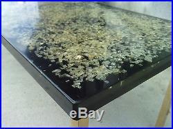 Table basse design resine morceaux verre fractale pierre GIRAUDON coffee resin