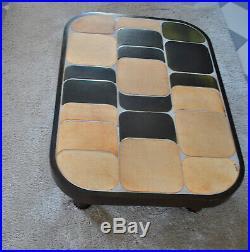 Table basse du designer Roger Capron à Vallauris, modèle Sou Chong 1960