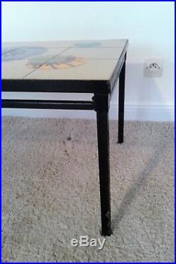 Table basse métal et céramique vintage