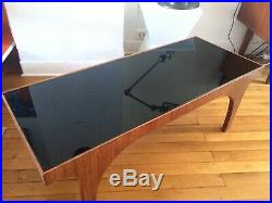 Table basse scandinave teck Et opaline Noire Design années 60