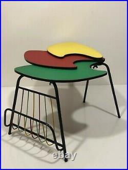 Table basse tripode vintage plusieurs plateaux design années 50's 60's