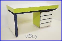 Table bureau console Vintage Années 80 Design Sottsass Memphis Shire