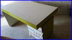 Table bureau console vintage design années 80 dlg Sottsass Peter Shire De Lucchi
