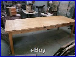 Table de ferme bois massif 2metres 50 pieds sifflets