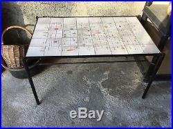 Table en céramique Jean Rivier era capron orlando miro derel etc