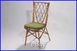 Table et 4 chaises de jardin Audoux Minet années 50