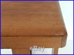 Tabouret Table D'appoint Scandinave En Teck Massif 1960 Vintage 60s 60's