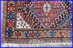 Tapis ancien rug oriental orient tribal ethnique Persan Perse Ghashghaï 1900