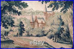 Tapisserie ancienne tapis ancien rug Europeen Français France Aubusson 1950