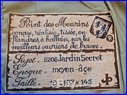 Tapisserie d'Halluin Jardin secret au point de Meurins Jules Pansu