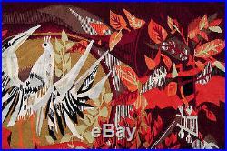 Tapisserie tapis ancien antique rug Hervé Lelong Aubusson Français 1970