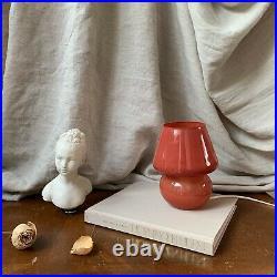 Terracotta Mini Mushroom lamp Glass Lampe Champignon