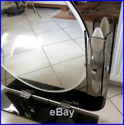 Très Beau Grand Miroir FONTANA ARTE avec appliques Mirror with sconces