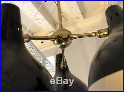 Très Belle Suspension Lampe Des Années 1950-disderot- 50-époque Guariche