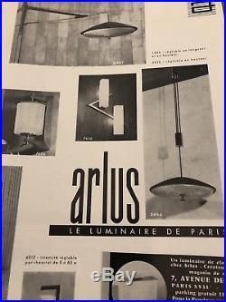 Très Grande Applique Potence Arlus -1960-1950 Design Époque Guariche
