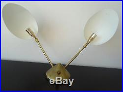 Très belle Applique murale lampe potence Design 2 bras vintage wall lamp