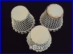 Trois caches pots en métal grillagé années 1950/60 mategot