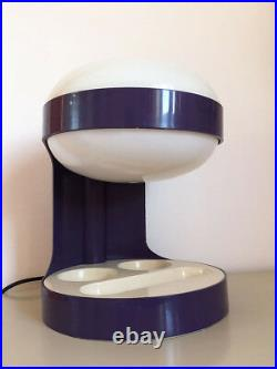 ULTRA Rare LAMPE KD29 VIOLETTE de Joe Colombo pour Kartell Vintage An 70's