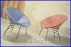 Vintage Fauteuils Scoubidou Des Annees 50/60 Design/armchair Modernist Design
