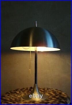VINTAGE LAMPE CHAMPIGNON DISDEROT monteuse 27 DESIGN 70 ALUMINIUM 2 feux