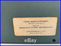 Valet Mural Scandinave En Teck Par Adam Hoff & Poul Ostergaard 1960 Cuir G253