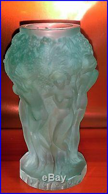 Vase ART DECO de Heinrich Hoffmann (1875-1939) Bohème LES BACCHANTES