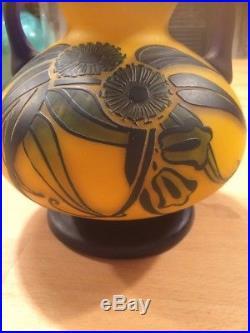Vase Richard En Pate De Verre Art Nouveau