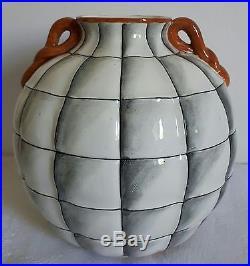 Vase céramique Richard GINORI S. CRISTOFORO Milano Italiy Italie 1930 Art Déco