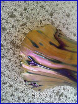 Vase irisé 1900 art nouveau bronze iridescent style loetz