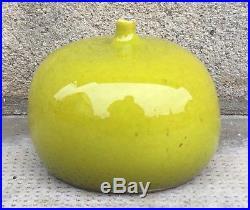Vase pomme ceramique design JOUVE GEORGES design vert