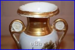 Vases fuseau (la paire) en porcelaine de Paris