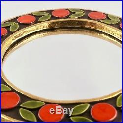 Vintage MIROIR Céramique Design FRANCOIS LEMBO Vallauris 50/60 Mirror/vautrin