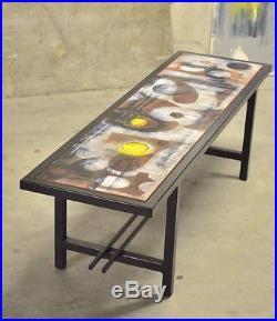 Vintage Table Ceramique Moderniste Des Annees 50 Bauhaus Design Art Deco