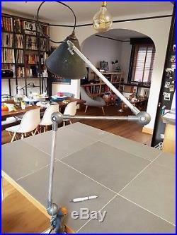 Vintage VERITABLE Lampe Industrielle Atelier Usine 3 Bras Jielde Gras Lumina