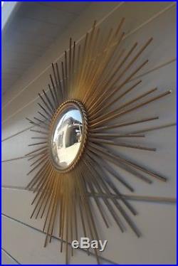 Vintage miroir soleil CHATY VALLAURIS bombe sorciere old mirror sunburst